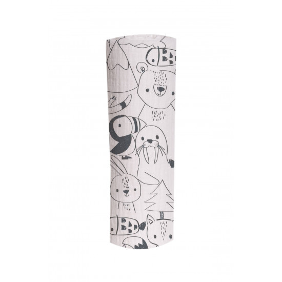POLE ANIMALS PRINTED MUSLIN