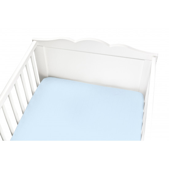 BLUE FITTED CRIB SHEET