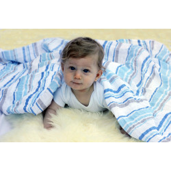 BLUE STRIPES MUSLIN