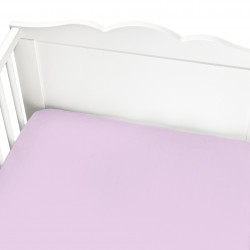 PINK FITTED CRIB SHEET