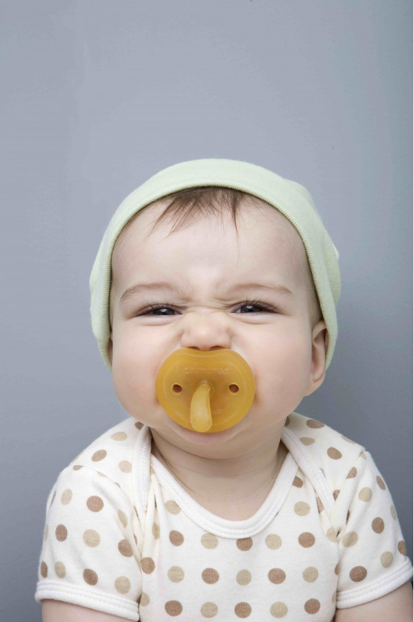 RUBBER PACIFIER ORTHODONTIC ROUND M BF