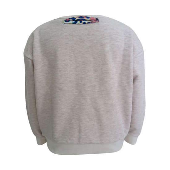 ECRU SWEATSHIRT FOR GIRLS