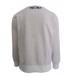 ECRU SWEATSHIRT FOR WOMEN