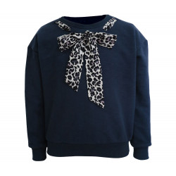 NAVY SWEATSHIRT FOR GIRLS