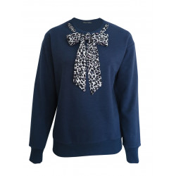 NAVY SWEATSHIRT FOR WOMEN