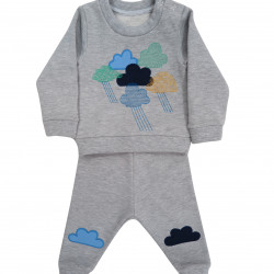 GREY CLOUD EMBROIDERED COMBIN