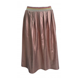 ROSE GOLD MIDI SKIRT FOR WOMEN