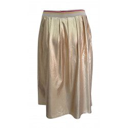 GOLD MIDI SKIRT FOR WOMEN