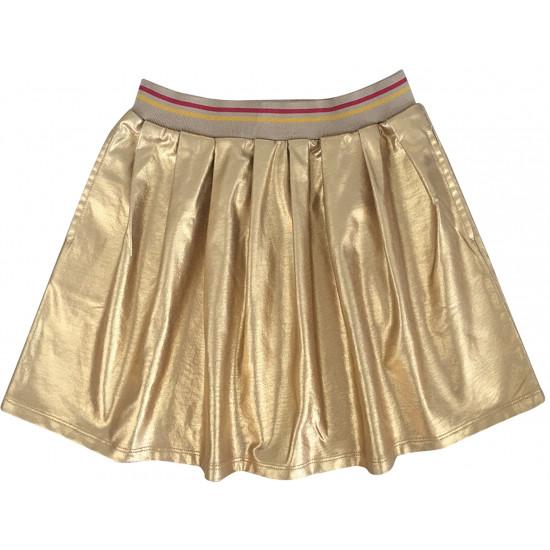 GOLD SKIRT-NAVY SWEATSHIRT COMBIN FOR GIRLS