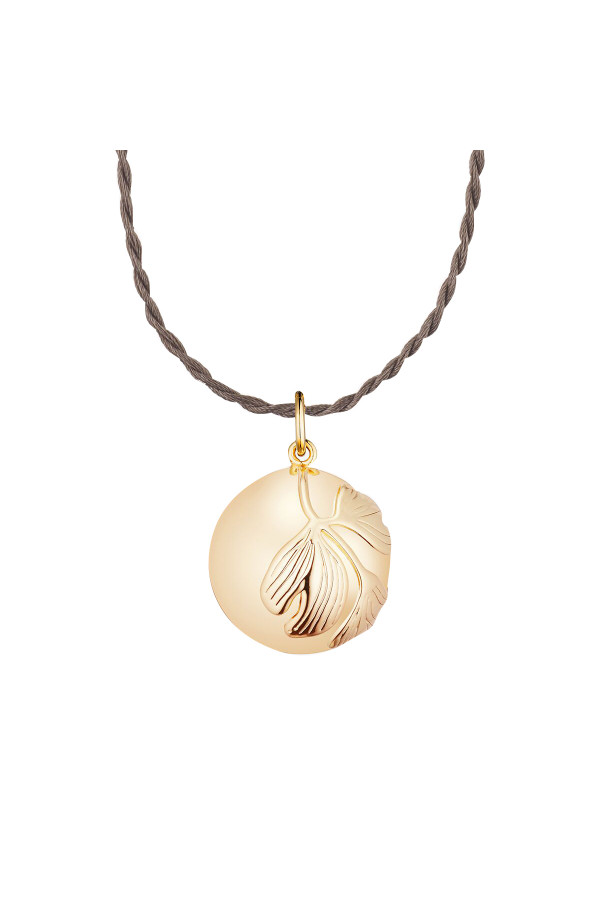 GINGKO PREGNANCY NECKLACE YELLOW GOLD