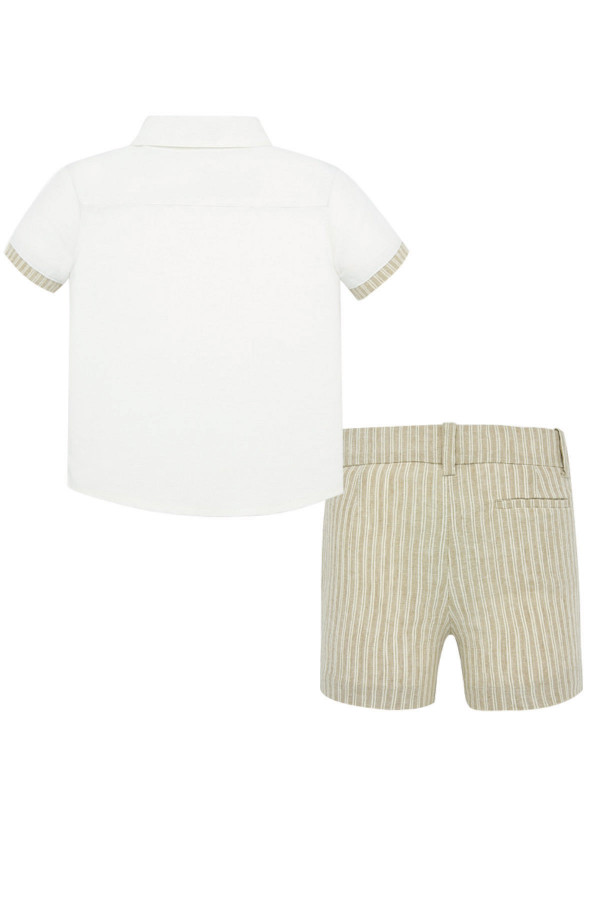 LINEN SHIRT AND SHORTS SET FOR BABY BOY