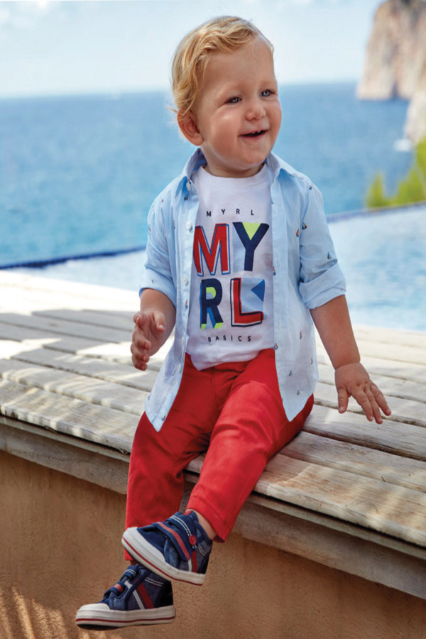 SLIM FIT CHINO TROUSERS FOR BABY BOY
