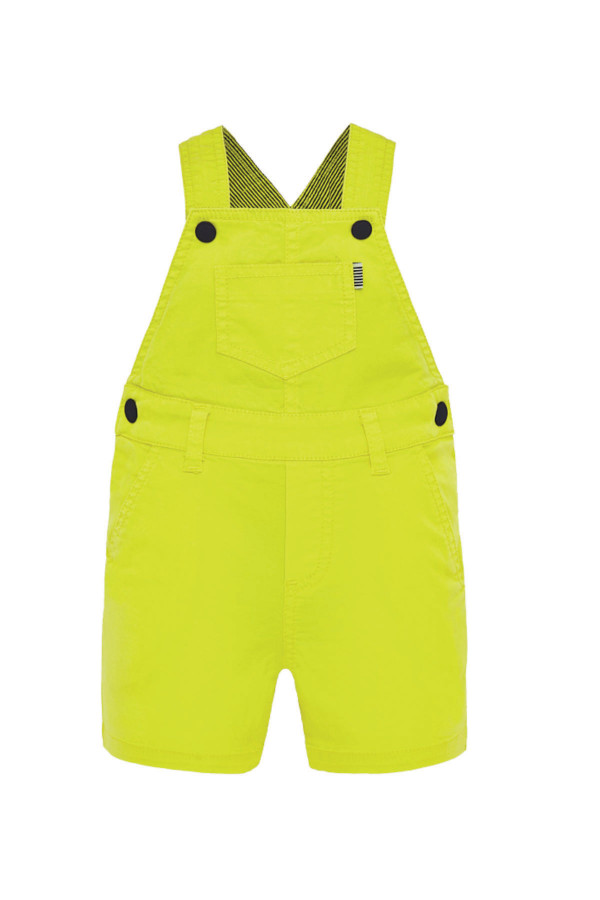 PATTERNED SHORT DUNGAREES FOR BABY BOY