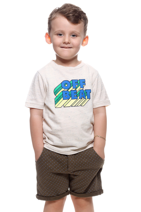 BOYS T-SHIRT WITH OFF BEAT PRINTED