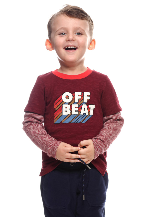 """BOYS T-SHIRT WITH """"OFF BEAT"""" PRINTED"""
