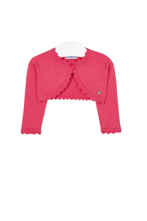 BABY GIRL CARDIGAN WITH EMBROIDERED OPENWORK