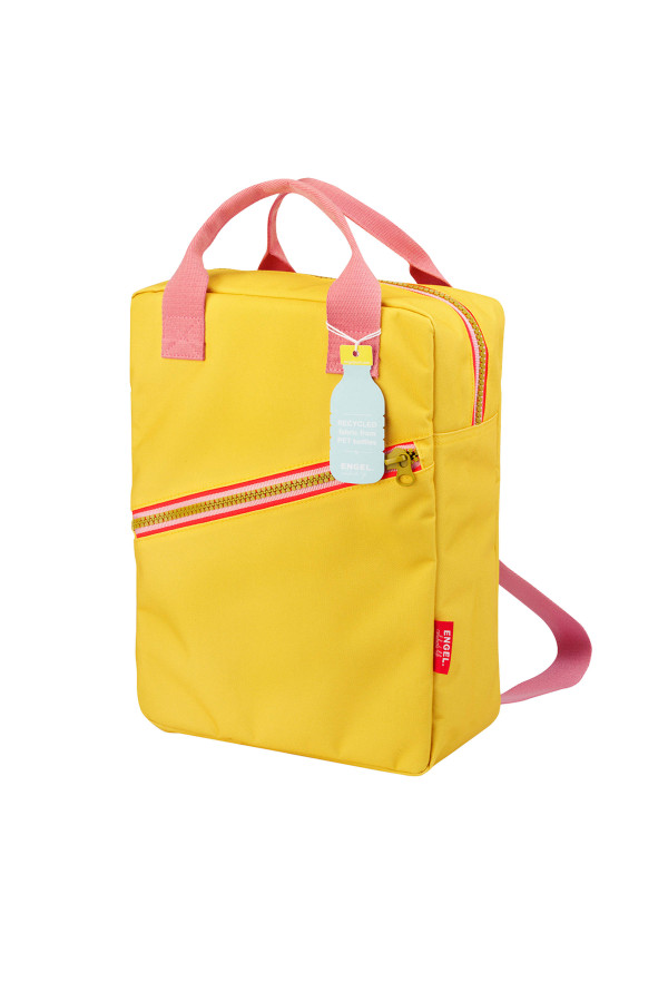 BACKPACK LARGE ZIPPER YELLOW-LARGE