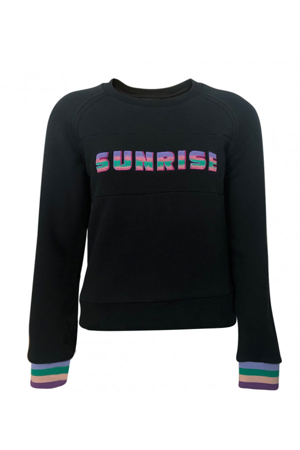 SWEATSHIRT WITH SUNRISE EMBROIDERED