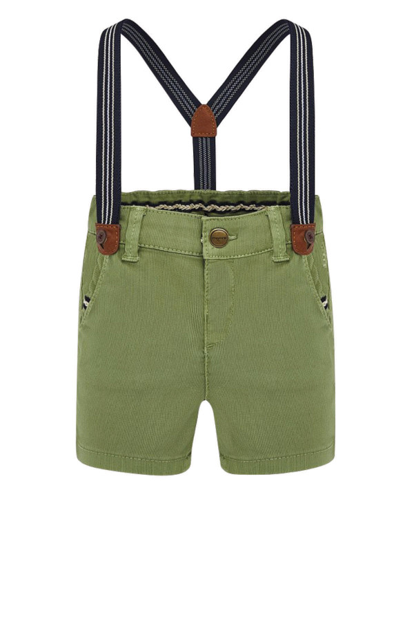 PIQUE BERMUDA SHORTS WITH BRACES FOR BABY BOY